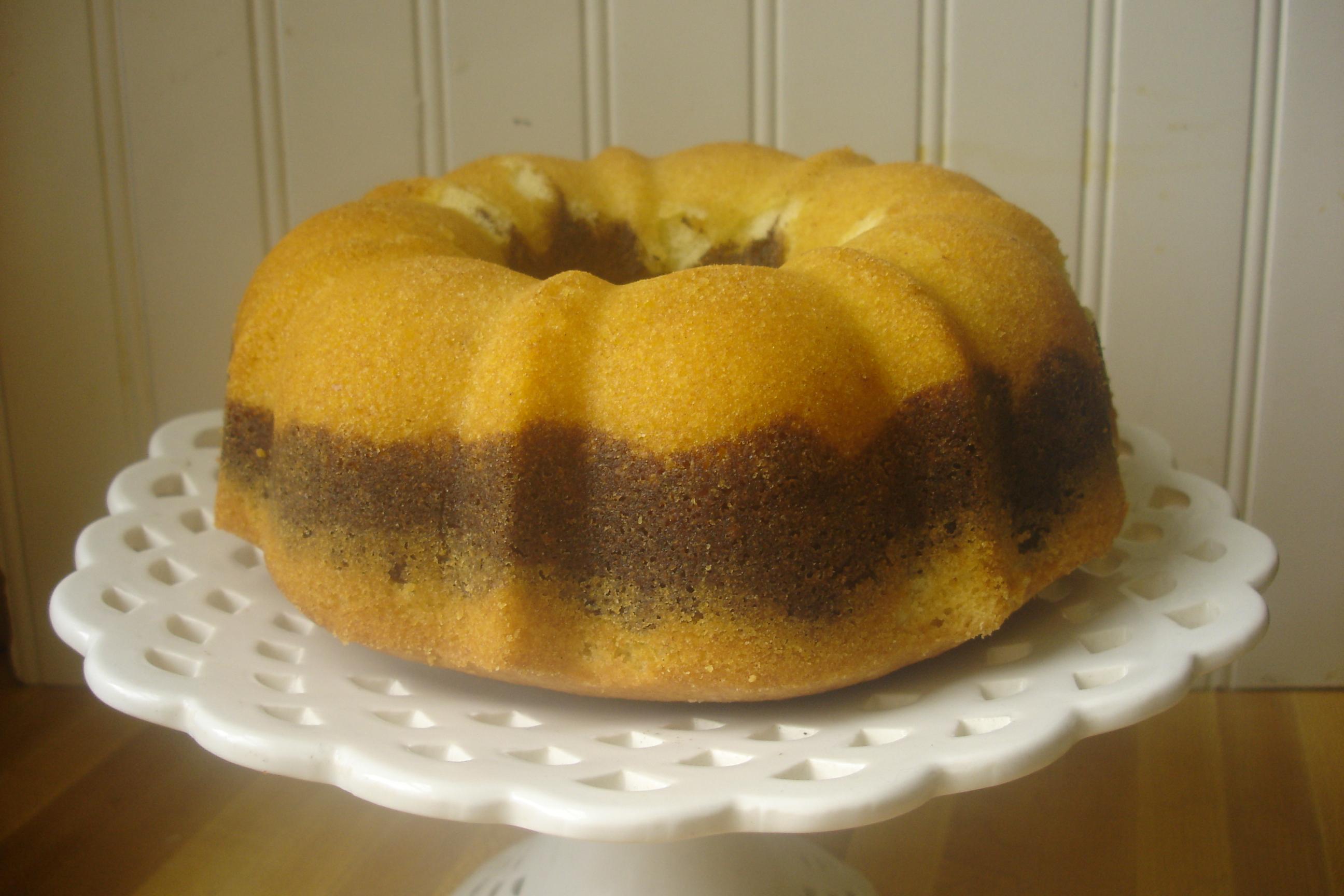 Modern Baker Challenge} Rum Scented Marble Cake   Tea and Scones