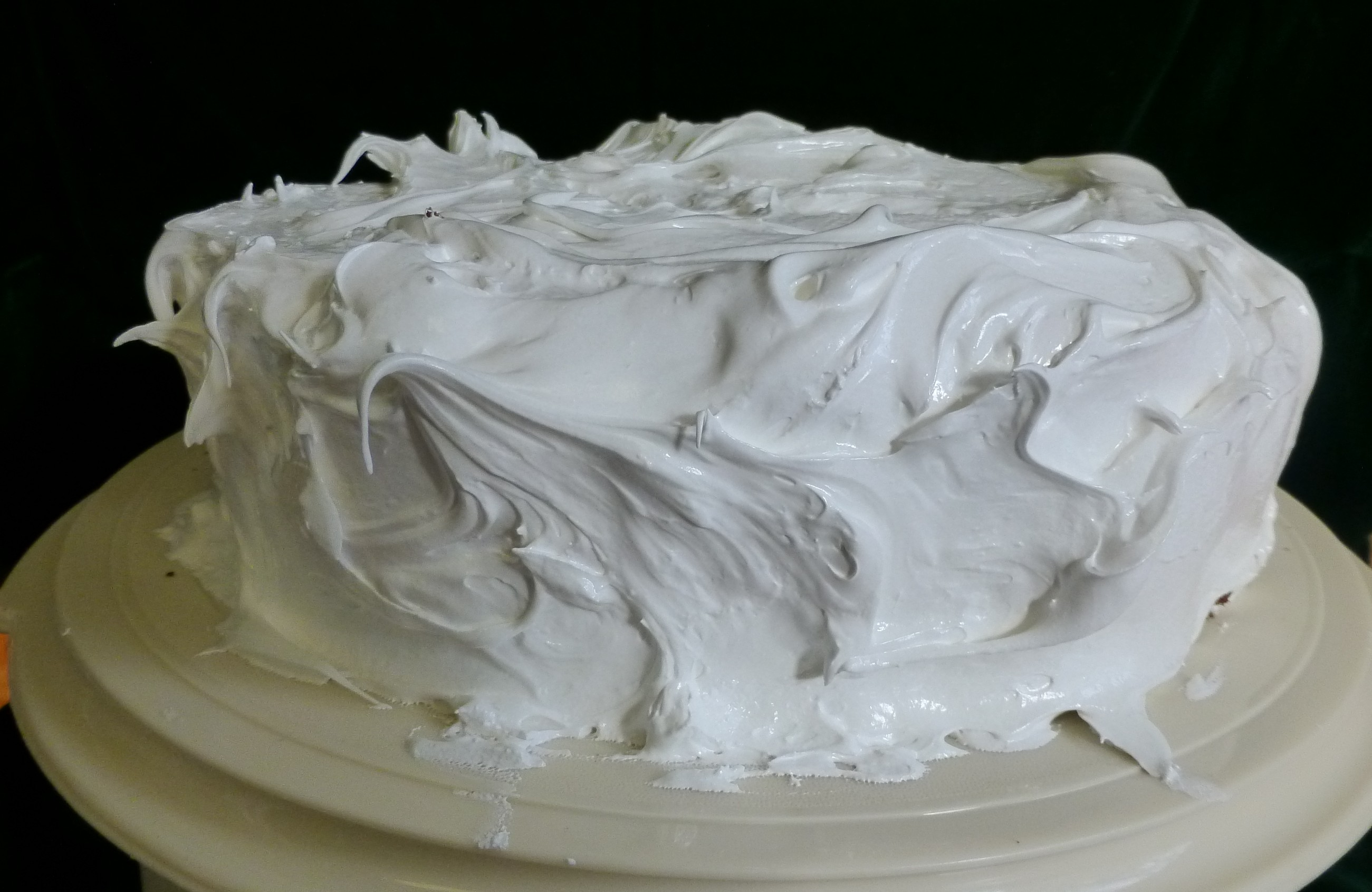 Devil's Food Cake with Fluffy White Icing